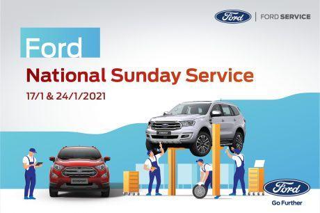 """CHƯƠNG TRÌNH """"FORD SUNDAY SERVICE"""" NGÀY 17 và 24/01/2021 TẠI DAKLAK FORD"""